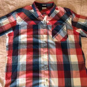 COLUMBIA - XL Plaid button down shirt